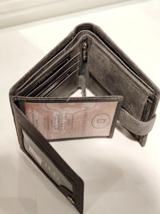Piniginė odinė pilka