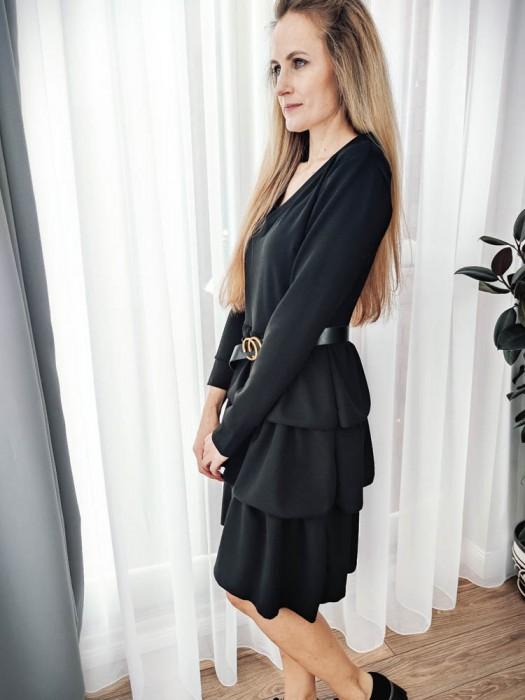 Suknelė su raukiniais juoda