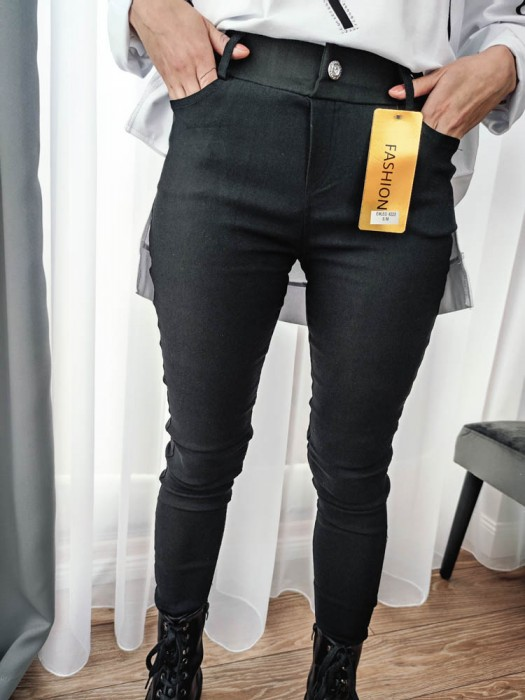 Kelnės džinsų imitacija juodos