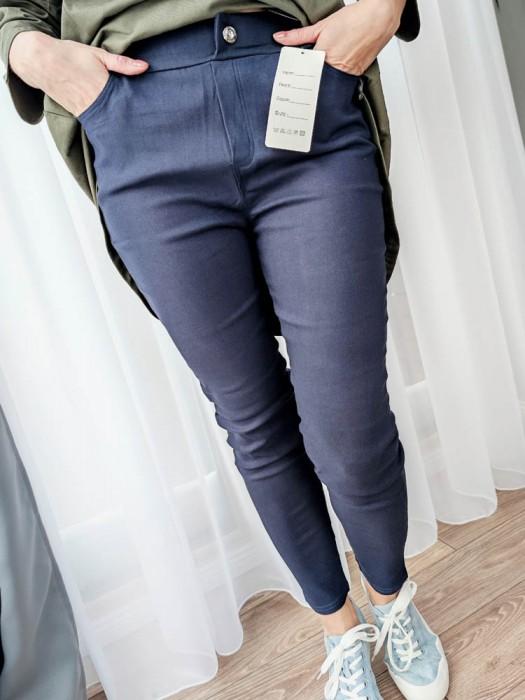 Kelnės džinsų imitacija mėlynos