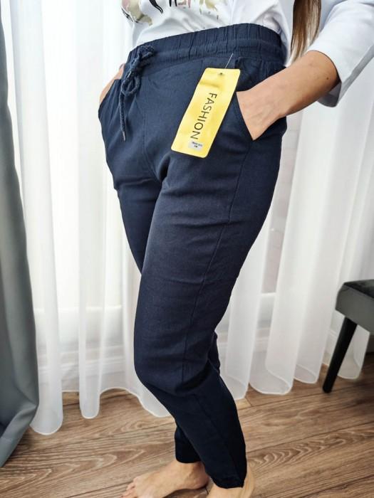 Kelnės su raišteliu mėlynos