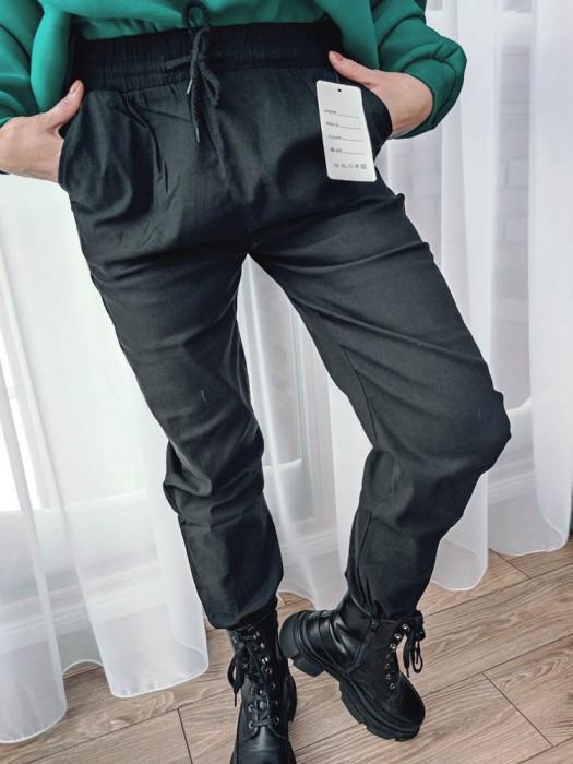 Kelnės su raišteliu juodos