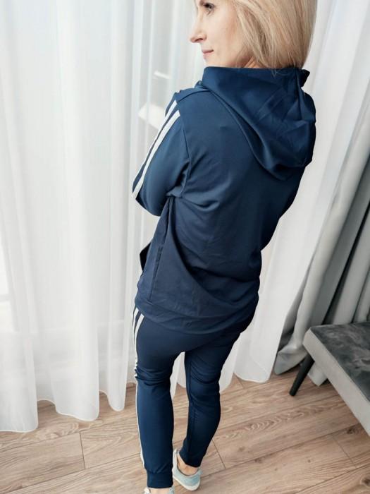 Sportinis kostiumas su juostelėm mėlynas