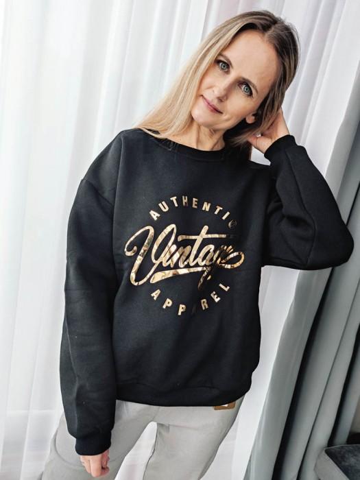 Džemperis Vintage juodas