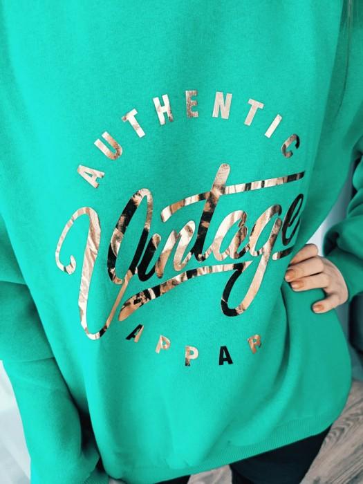 Džemperis Vintage žalias