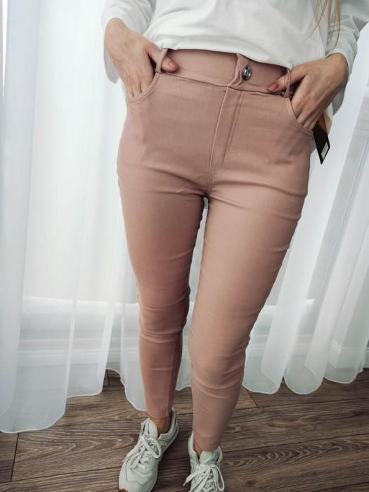 Kelnės džinsų imitacija rožinės