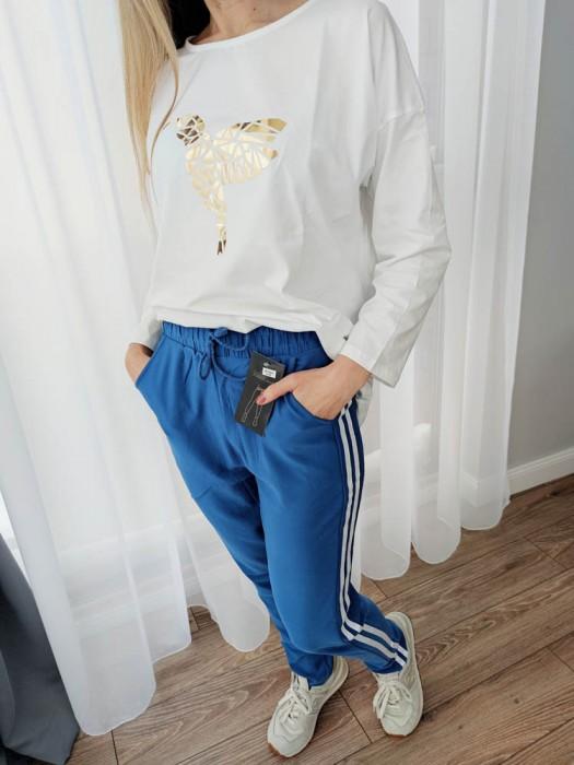 Sportinės kelnės su juostelėm mėlynos