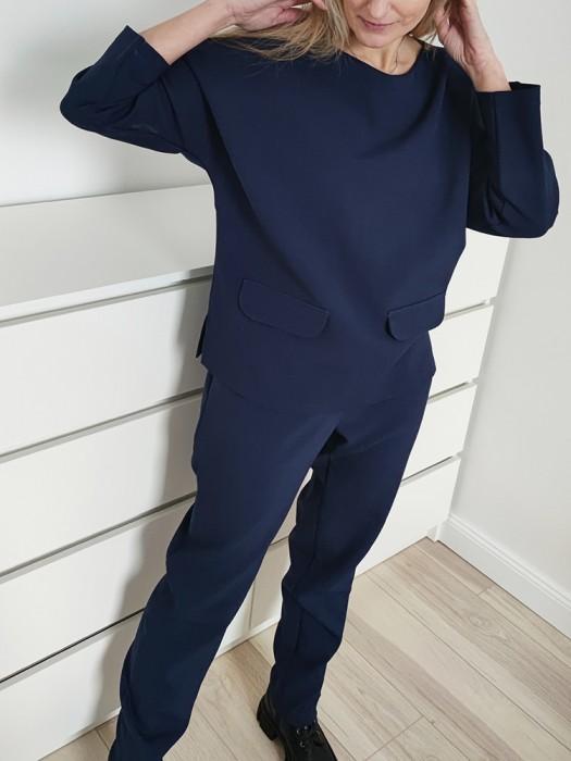 Kostiumėlis su kelnėm mėlynas