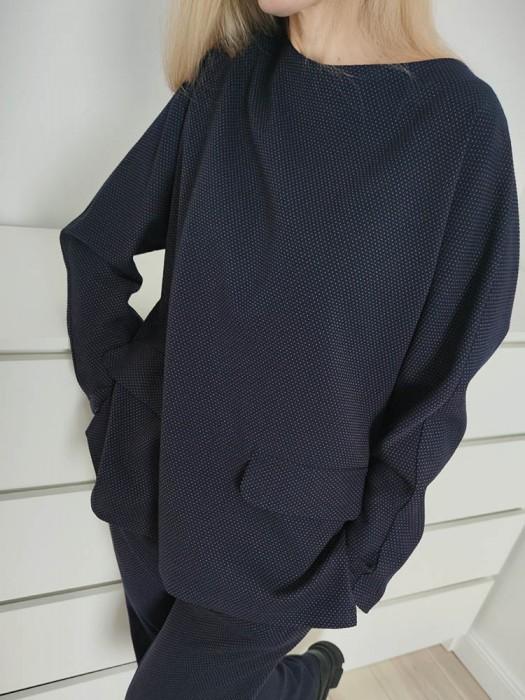 Kostiumėlis su kelnėm taškuotas