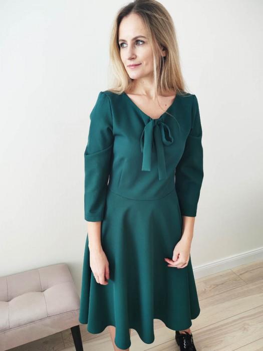 Suknelė žalia puošni
