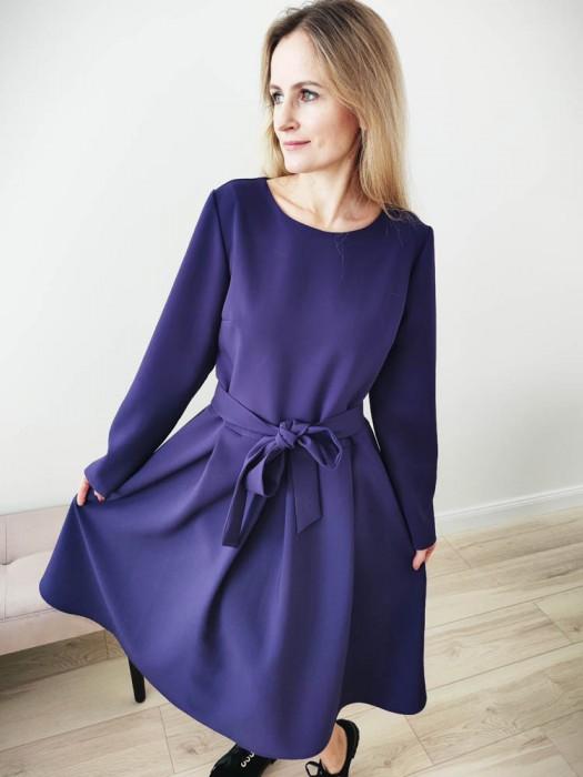 Suknelė violetinė puošni