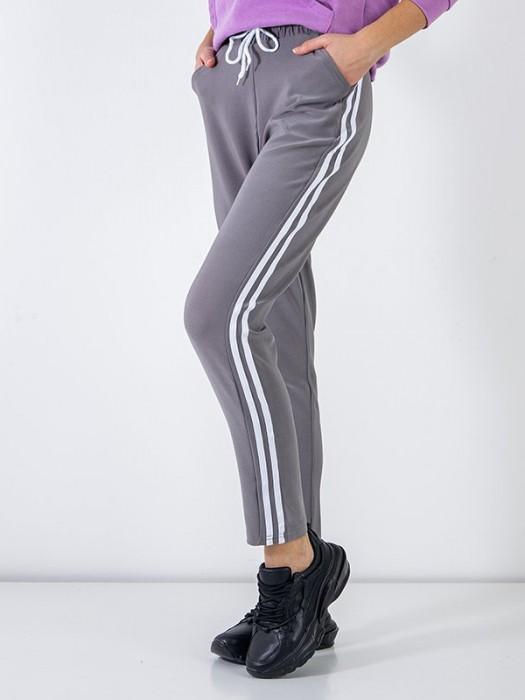 Sportinės kelnės su juostelėm pilkos