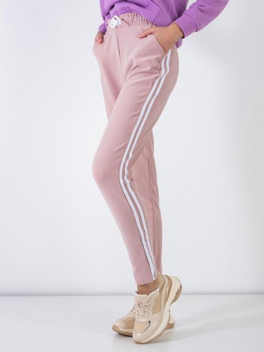 Sportinės kelnės su juostelėm šv. rožinės