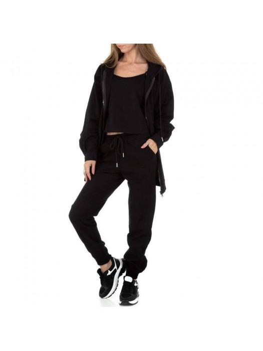Sportinis kostiumas juodas, 3 dalių