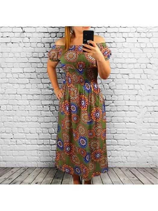 Suknelė ilga chaki