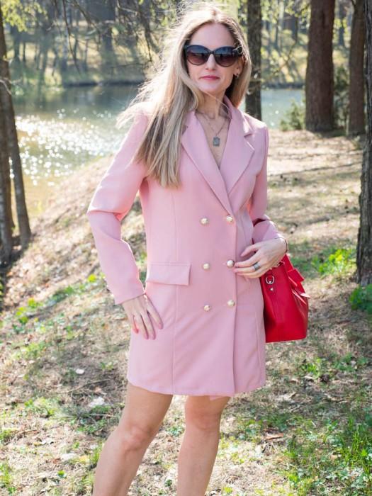 Suknelė-švarkas rožinis